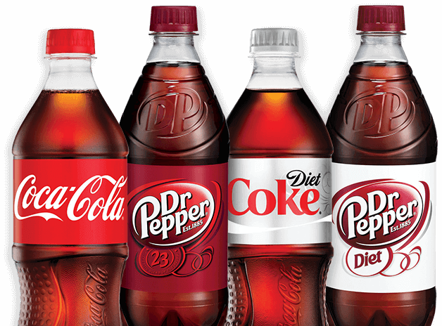 Coca-Cola, Dr Pepper, Diet Coke, Diet Dr Pepper